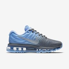 the latest 106f3 d69d8 Nike Air Max 2017 Wolf Grey Light Blue Grey Running Shoes(36-40)