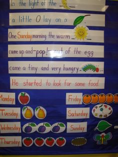 students retell the very hungry caterpillar using character cut outs from http - Dltk Teach