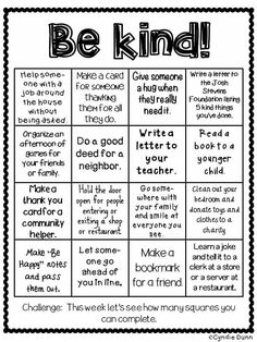 Random acts of kindness bingo teaching kindness, kindness activities, kindness projects, anti bullying Teaching Kindness, Kindness Activities, Anti Bullying Activities, Bullying Lessons, Social Emotional Learning, Social Skills, Behavior Management, Classroom Management, Time Management