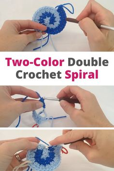 Two-tone double crochet spiral, Two-tone double crochet spiral Two-tone double crochet spiral. In this video you will learn how to start with a two-tone double crochet spiral. #croch...,  #crochet #double #Spiral #spiralcrochetsquare #twotone Spiral Crochet Pattern, Crochet Squares, Double Crochet, Crochet Stitches, Crochet Patterns, Granny Squares, Crochet Crafts, Free Crochet, Crochet Leaves