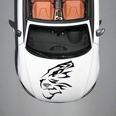 ANIMAL TIGER PREDATOR WILDCAT ART DESIGN HOOD CAR VINYL STICKER DECALS SV1239