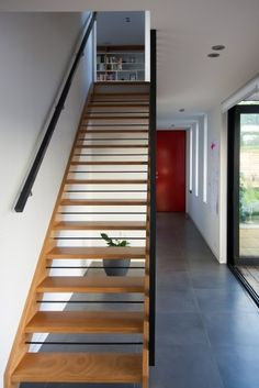 Featured Projects - Box Living - Love the stairs - idea for stairs from garage up to mezzanine (stage Boxing Live, Home Reno, Architecture Plan, Interior And Exterior, Building A House, Floor Plans, Stairs, House Design, Reno Ideas