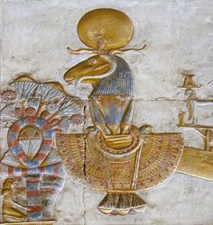 The Chapel of Amun in the Seti Temple in Abydos at one time probably housed a sacred portable barque of Amun. Ancient Egyptian Art, Ancient History, Luxor, Objets Antiques, Temple, Empire Romain, Art Antique, Egypt Art, Ancient Artifacts