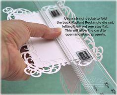 using frame die cuts as card base