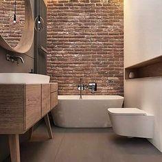 Wyk.@tilla_architects   #cegła  #ścianazcegły  #lazienka  #łazienka  #wnetrze  #inspiracja  #wnętrza  #instahome  #bathroomdesign  #bathroomdesignideas  #bathroom  #bathroomideas  #bathroominspo  #instabathroom  #design  #wanna  #interiør  #instainterior  #interiordesign  #interior  #bathroomdecor #woodbathroom  #wood