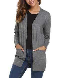 5647417960 50 Cardigan Sweaters For Women 2019. Soteer Women s Casual Open Front Knit  Cardigan Sweater with Pockets ...