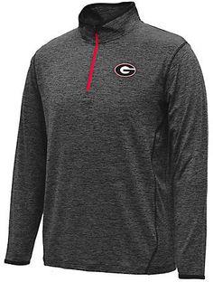 STADIUM Men's Georgia Bulldogs College Act Pass 1/4 Zip Shirt