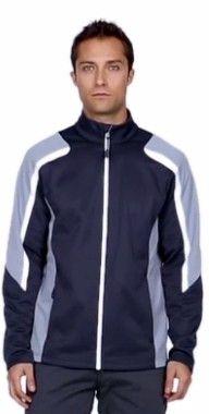 Custom embroidery on Colour-block Fleece Jacket 8a2cd88a4