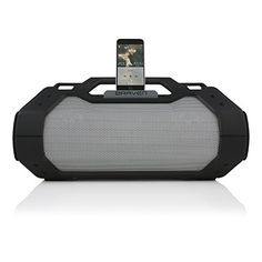 BRAVEN BRVXXL Large Portable Wireless Bluetooth Speaker WaterproofOutdoor BuiltIn 15600mAh Power Bank USB Charger  BlackTitanium * See this great product.