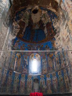 Frescos of Akhtala monastery altar