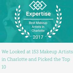 Honored to be recognized by Expertise as one of Charlotte's Top 10 Makeup Artists. Great job @beautyasylum_charlotte team! [ tap to follow ]  #beautyasylum #beautyteam