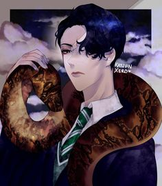 hiss hiss by KatzianXero on DeviantArt Slytherin, Hogwarts, Harry Potter Ships, Ralph Fiennes, Lord Voldemort, Ao No Exorcist, Albus Dumbledore, Daddy Issues, Riddles
