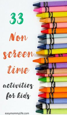 Parenting tips: Ideas for non screen time activities for your kids. Focussing on child led styled unstructured play that allows better development of key skills. Fun Activities For Kids, Infant Activities, Preschool Activities, Crafts For Kids, Diy Crafts, Hacks For Kids, Family Activities, Child Development Activities, Toddler Development