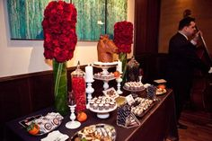 A Sweets Table with a Godfather theme.