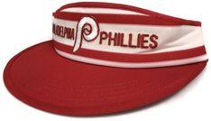 84d10cb2986 Vintage Philadelphia Phillies Visor Cap Hat Adult Universal Ind Red White  OSFA Red White Vtg Eagles Baseball Trucker Mesh Snapback Size Sz