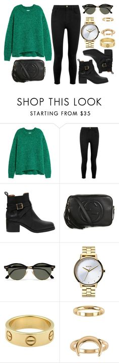 """#14037"" by vany-alvarado ❤ liked on Polyvore featuring Frame, Carvela Kurt Geiger, Gucci, Ray-Ban, Nixon, Cartier and Billabong"