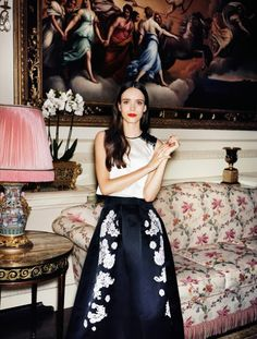 Stacy Martin Wearing Erdem for Vogue
