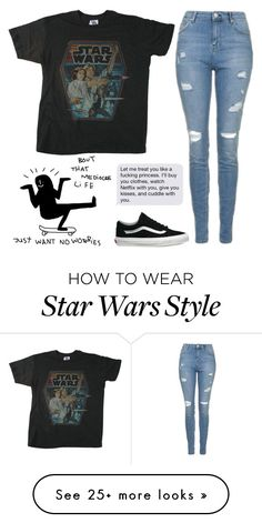 """Untitled #1975"" by chill-outfits on Polyvore featuring Junk Food Clothing, Topshop and Vans"