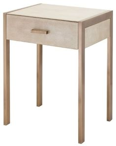 Biscuit Shagreen, And AB Legs Side Table #sidetable