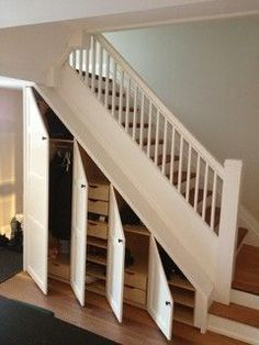 Under-stair storage...creative use of awkward space