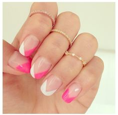 bright colored nails