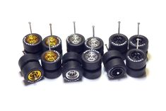 1 set of Scale With Axles and Realistic Rubber Treaded Tires for Custom Creation of Hot Wheels, Tomica Diecasts Cars. Designed for all Hot Wheels and scale diecast cars. Custom Hot Wheels, Custom Cars, Dnd Table, Metal Toys, Rubber Tires, Alloy Wheel, Toys For Girls, Scale Models, Diecast