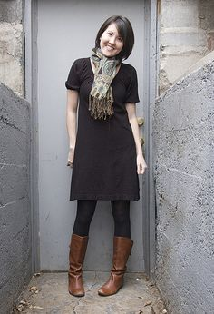 black+brown / basic black / add scarf for color & texture interest / casual / Winter / campus