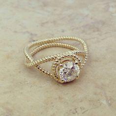 Round Shape Infinity Diamond Engagement Ring by ldiamondsforever