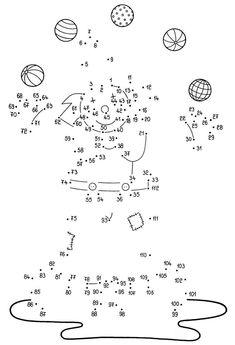 Verbinde die Punkte: Zahlen 1 - 100 | Pinterest | Kindergarten ...