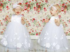 Christening dress Flower girl dress Girl tutu dress Birthday