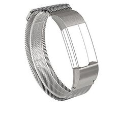 For Fitbit Charge 2 Bands Wearlizer Milanese Loop Smart Watch Replacement Strap Stainless Steel Bracelet Fitness Wristband for Fitbit Charge 2  Silver Small -- Click image to review more details.