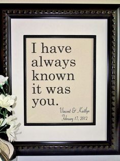 I Have Always Known It Was You Cotton Print by 505Vintage on Etsy, $22.00
