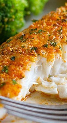 This Parmesan Crusted Tilapia is a simple fish recipe that is done in 20 minutes and will even impress non-fish lovers!