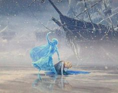 (Frozen) I want to talk about this image because it is incredibly striking and says hella about the dynamics these two have in their very broken relationship. Elsa is crumbled on the ground under a sea of snowflakes, doing what she does best: running for her life from herself. And Anna is standing over her, defending her, just as she always has. Her entire life Anna believed in Elsa and never truly gave up believing her sister was somewhere behind that door and was completely ready to…