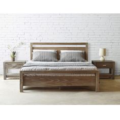 Grain Wood Furniture Loft Solid Wood Queen-size Panel Platform Bed | Overstock.com Shopping - The Best Deals on Beds