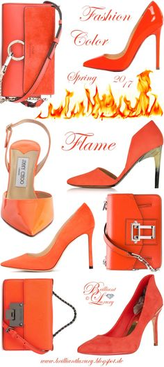 Brilliant Luxury by Emmy DE ♦ Fashion Color Spring 2017 ~ flame