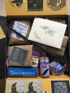 My Harry Potter Hogwarts Acceptance Letter Care Package. Sorry had to jumble the…