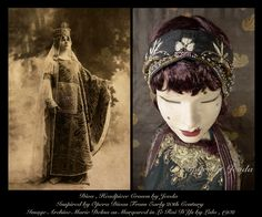 1920s Headpiece,Art Deco Headpiece,20s Dress headpiece,Embroidered Headpiece,1920s Head Piece,Flapper Head Piece,Downton Abbey,Edwardian by Jevda on Etsy
