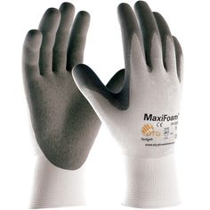 Protective Industrial Products® Medium MaxiFlex® Ultimate by ATG® 15 Gauge Abrasion Resistant Black Micro-Foam Nitrile Palm And Fingertip Coated Work Gloves With Gray Seamless Knit Nylon And Lycra® Liner And Continuous Knit Cuff Best Work Gloves, Nylons, Best Garden Tools, Safety Gloves, Cold Weather Gloves, Gardening Gloves, Gardening Tools, Organic Gardening, Indoor Gardening