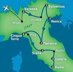 Rick Steves's Best of Italy in 17 days. Destination ideas! #italyitinerary