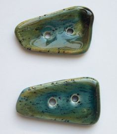 Earth and Sky Ceramic Buttons by buttonalia on Etsy, $8.00