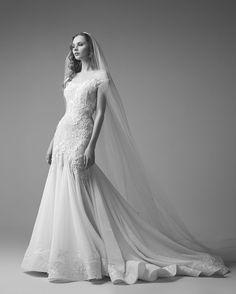 Romantic Bateau Neckline Wedding Dress from Saiid Kobeisy's 2017 Collection