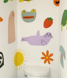 8 Freeform Wall Paint Ideas for the Carefree DIYer Whimsical Nursery, Decoration Originale, Mural Art, Kids Wall Murals, Future House, Room Inspiration, Kids Room, Child Room, Artsy