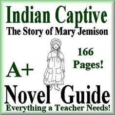 This is a 165 page complete literature guide for Indian Captive, the Story of Mary Jemison by Lois Lenski.  This novel guide has everything that you will need to teach and assess the novel. The calendar guide explains the skills and activities for the day, and the weekly assessments are Common Core aligned and include all answer keys.