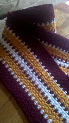 Crochet football sports scarf