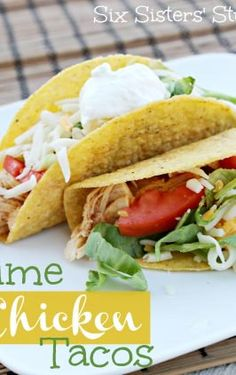 Easy Chicken Ranch Tacos Recipe – Six Sisters' Stuff