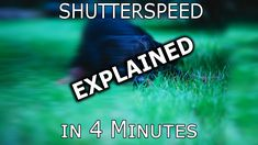 4 Minutes SHUTTER Explanation for beginner Photographers. Tutorial PT ONE. Camera Basics, Shutter Speed, Sd Card, Shutters, Photographers, Men, Blinds, Shades