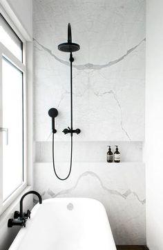 Modern Monochrome Bathroom - Minimalist Interior Design
