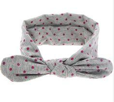 Polka Dot Knotted Headband