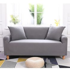 2 Seater Included: 1 x Two-seat Sofa Slipcover. 3 Seater Included: 1 x Three-seat Sofa Slipcover. 2 Seater Length Range for Sofa: Approx. 3 Seater Length Range for Sofa: Approx. With features of stretch and elastic, it fits most sofa. Clean Couch, Simple Sofa, Sofa Protector, Types Of Sofas, L Shaped Sofa, Couch Covers, Diy Sofa Cover, Fabric Sofa, Love Seat